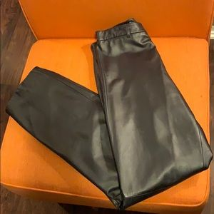 Leather Nine West Pants